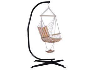 Solid Steel C Hammock Frame Stand Construction Hammock Air Porch Swing Chair