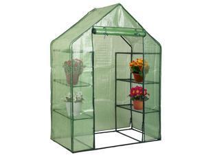 Portable Mini 8 Shelves Walk In Greenhouse Outdoor 4 Tier Green House