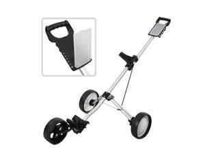 Foldable 3 Wheel Push Pull Golf Cart Folding Trolley Three Wheels Swivel