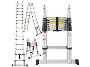 16.5FT Aluminum Telescoping Telescopic Extension Multi Purpose Ladder Tall