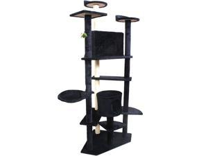 "Navy 80"" Cat Tree Condo Furniture Scratch Post Pet House"