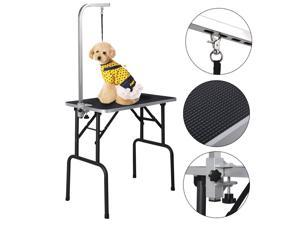 32'' Adjustable Pet Dog Cat Grooming Table Top Foam W/Arm & Noose Rubber Mat
