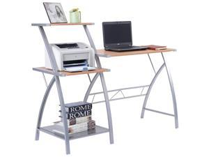 Computer laptop writing study desk table home office furniture w/ 3-tier shelf