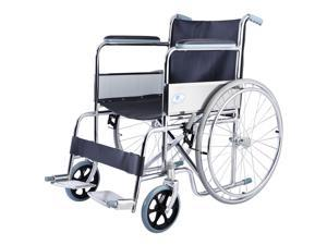 24'' Lightweight Foldable Folding Wheelchair w/ Footrest FDA Approved