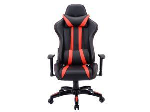 Executive Racing Style High Back Reclining Chair Gaming Chair Office Computer Black Red