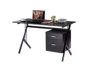 K-Frame Wood Laptop Writing Table Computer Desk Workstation Home Office Black