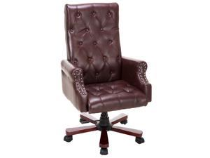 High Back Deluxe Guest Office PU Leather Accent Chair Modern Furniture