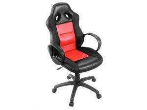 High Back Race Car Style Bucket Seat Office Desk Chair Gaming Chair Red