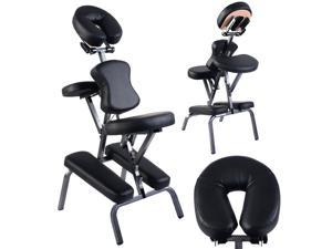 Portable PU Leather Pad Travel Massage Tattoo Spa Chair w/ Carrying Bag