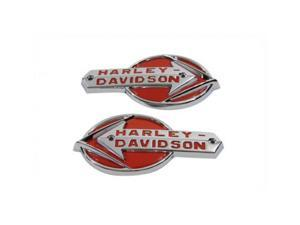V-twin Manufacturing Oe Emblem Set With Red Lettering 38-6670