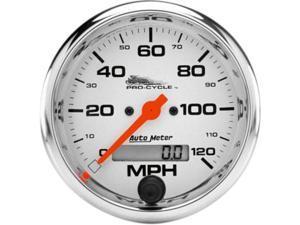 """33/8"""" Electronic Speedometers 120 White Elec Speedo 3 3/8"""