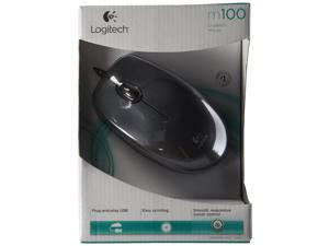 NEW Logitech M100 USB Optical Wired Mouse 910-001601 (Black)