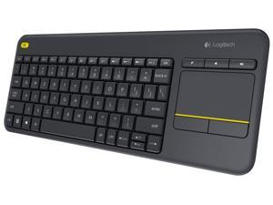 NEW Logitech Wireless Touch Keyboard K400 Plus with Built-In Touchpad for Internet-Connected TVs