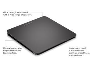 NEW Logitech Rechargeable Touchpad T650 with Windows 8 Multi-Touch Navigation - Black