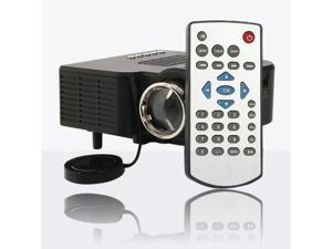 Mini Portable LED Projector 1080P Multimedia Home Theater VGA USB HDMI Black