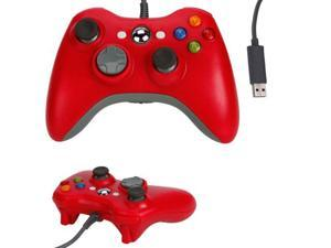 Red USB Wired Game Pad Controller For Microsoft Xbox 360 Xbox360 PC Windows
