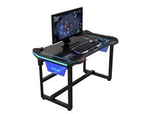 E-Blue USA Wireless Glowing LED PC Gaming Office Ergonomic Desk Table EGT511(1 meter)