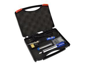 6-in-1 Electric Soldering Iron Kit with Cleaning Sponge,SOAIY 60W Adjustable Temperature Welding Soldering Iron with Tool Carry Case,5pcs Different Soldering Tips,Soldering Sucker, Solder Wire,W stand