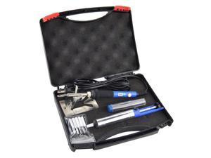 6-in-1 Electric Soldering Iron Kit with Cleaning Sponge,SOAIY 60W Adjustable Temperature Welding Soldering Iron with Tool Carry Case,5pcs Different Soldering Tips,Soldering Sucker, Solder Wire,Y Stand