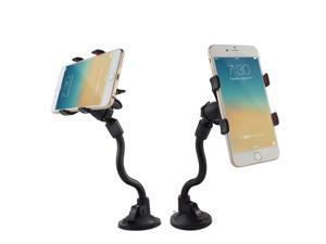 Ipow Car Mount,Long Arm Universal Windshield Dashboard Cell Phone Holder with Strong Suction Cup and X Clamp for iPhone 6 Plus/6 5 4 Samsung Galaxy S6 Edge/s6 S5 S4 S3 Note Nexus Etc