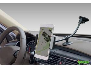 Ipow Universal Dashboard Windshield 13 Inches Long Arm Car Mount Holder Cradle with Ultra Dashboard Base and Strong Suction for iPhone 6/5s/5,Samsung S5/4,Nexus 5/4, LG&GPS Devices,Black with cradle
