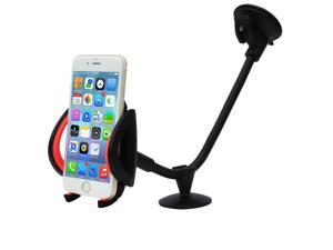 Ipow Smartphone Car Mount Long Arm 13 Inches Holder Cradle With A Quick Release Button For iPhone 6 6+ 6S 6S Plus 5S 5,iPod Touch,Samsung Galaxy S5 S4/3 Note 2/3,Nexus,Nokia,LG G3,HTC&GPS Devices