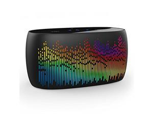 Wireless NFC/Bluetooth 4.0 Speaker w/ LED Spectrum Light Show (Built-in MIC, AUX Jack, TF Card Slot, Touch Panel, Voice Prompt) for iPhone, iPad, Samsung, Nexus, Smartphone,Tablet (Black)