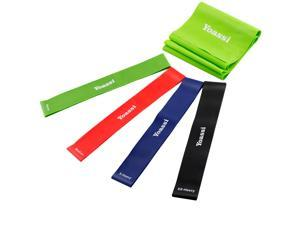 ipow Exercise Resistance Loop Bands,Strength Stretch Set,Great for Physical Therapy, Fitness Theraband Stretch, Set of 4
