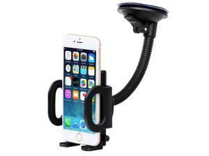 Universal Long Arm Dashboard Windshield Cell Phone Holder Mount for iPhone 6 6s Plus 5s Samsung Galaxy S7 S6 Edge S6 S5 S4 Note 5 4 HTC M9 M8 LG4 3 Nexus 6 5 fire phone and other Smartphones