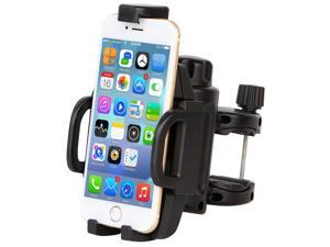Larger Size Bicycle Handlebar & Motorcycle Bike Phone Mount Holder Cradle Fits Any Smartphone - iPhone 6 6(+) 6S 6S Plus 5S 5, Samsung Galaxy S7 S6 S5 S4 S3 Note 3 4 5, Nexus, HTC, LG, And More