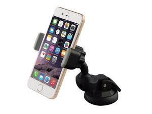 Mini Car mount, Ipow Universal Car Holder Dashboard and Windshield Smartphone Holder for iPhone 6(+) 6S(plus) 5S 5,iPod Touch,Samsung Galaxy S6/5/4/3, Note 2/3/4,Nexus 5,HTC,LG G3&GPS Devices,Black