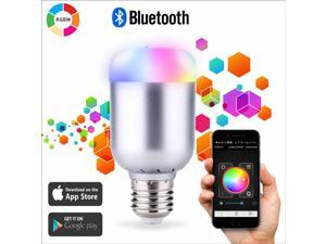 Bluetooth Smart RGB Light Bulb with E26 Base and 550 Lumens - QIVV SU-600
