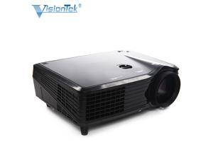 Visiontek VS508 Multimedia LCD/LED Projector, 16:9 4:3 Support 1080P In-built Speaker Compatible with Home Cinema Theater TV Laptop Game SD iPad iPhone Android Smartphone, 30,000 Hours Lamp Life