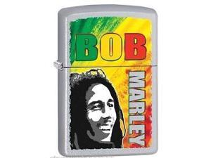 Zippo Bob Marley, Satin Chrome Windproof Pocket Lighter 29126