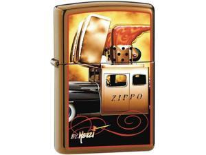 Zippo 204B Brush Brass / CI000126-Mazzi Zippo Car Windproof Pocket Lighter 204BCI000126