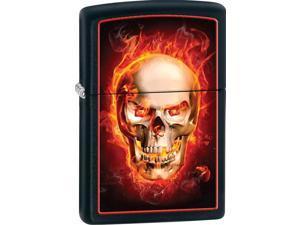 Zippo SCULL Black Matte Old 28307 Windproof Pocket Lighter 218CI005568