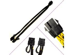 """PCI Express Power Splitter Cable 6-Pin Female to 2x 6+2-Pin Male - 12"""" Cable - Perfect For ETH Ethereum Mining Rigs"""