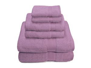Pink -6-Piece Set: Premium 100% Cotton 650 GSM Towels