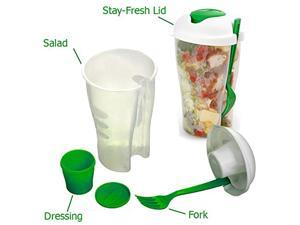 Salad Container Set with Any Dressing Containers Forks (2pack)