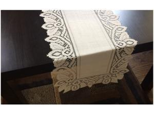 """Luxurious Lace Dresser Scarf Table Runners 13"""" x 72"""""""