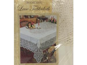 Crochet Vinyl High Quality Lace Tablecloth