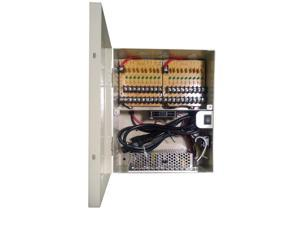 LTS DV-AT1212AD18P 115V AC In 12V DC 12 Amp Output 18 Ports PTC Protected Power Distribution Box