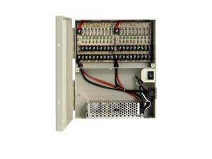 LTS DV-AT1215A-D10 18-Port Fused Output, 12V DC,18 Amp,UL list CCTV Distributed Power Supply Box