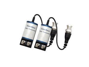 LTS LTA1011 1 Pair Balun CAT5 to BNC Coax CCTV Secuirty Camera Video Connector