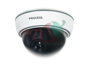 LTS DUM-301E White Dummy Dome Camera with Blinking Red LED Plastic Housing Look Very Real