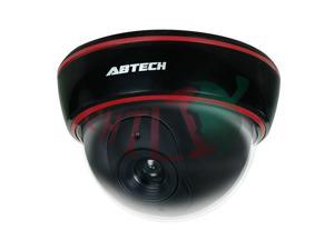 LTS DUM-301EB Black Dummy Dome Camera with Blinking Red LED Plastic Housing Look Very Real