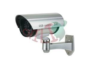 LTS DUM-501E Blinking Red LED Dummy Silver Bullet Camera with Plastic Housing LOOK VERY REAL