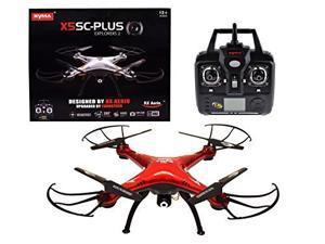 Syma X5SC Plus 2.4G Headless RTF Quadcopter Drone with 2MP 720P HD Camera (Red)
