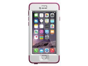 """LifeProof NUUD iPhone 6 Waterproof Case (4.7"""" Version) - Pink Pursuit (White/Deep Pink) 77-51281"""