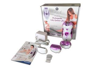 Styles II Lady Epilator Set - 4 In 1 Callus Remover, Shaver, Clipper, Epilator - Normal To Sensitive Skin - Gentle On Skin - Great For Arms, Underarms, Bikini Line & Legs - Rechargeable